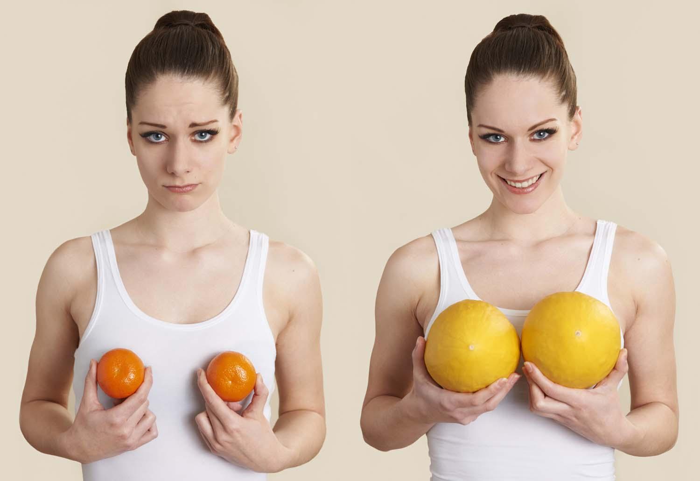 От чего растет грудь и как ее увеличить?