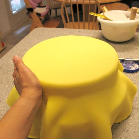 обтягиваем торт