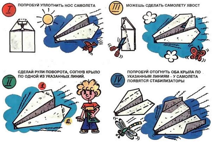 Апгрейд бумажного самолета