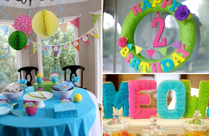 декор комнаты к дню рождения ребенка