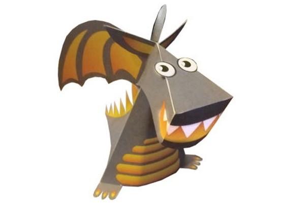 как легко сделать дракона из бумаги