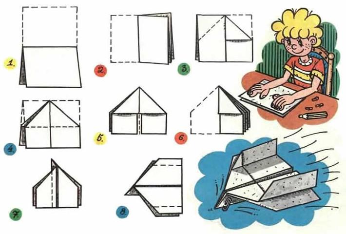 Как сделать самолет из листа бумаги