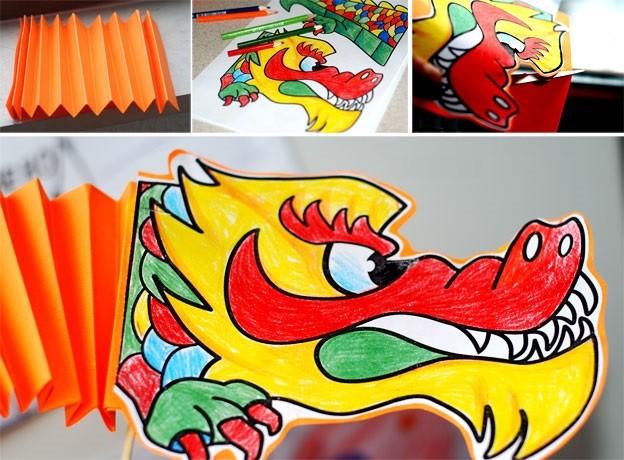 как сделать китайского дракона из бумаги_1
