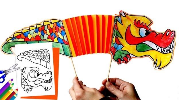 как сделать китайского дракона из бумаги_2