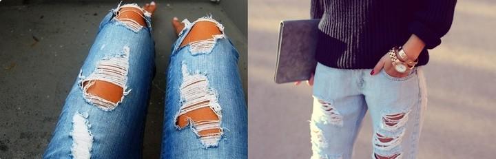 Как сделать рваные джинсы