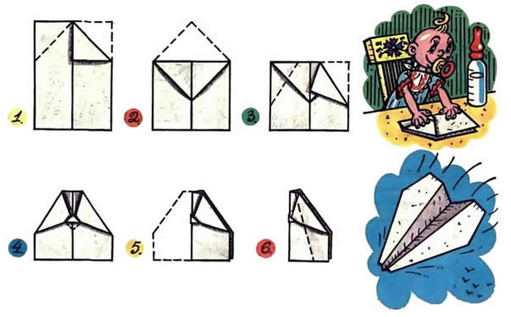 Как делать бумажные самолётики