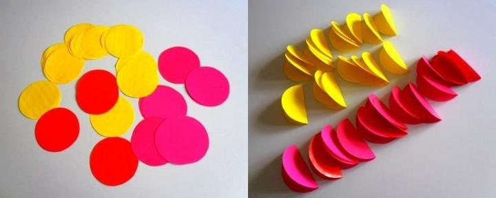 Как сделать шар из цветной бумаги 1