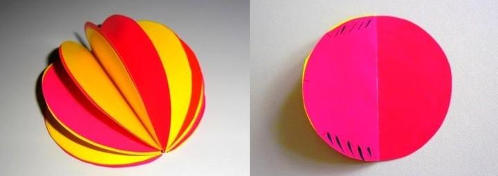Как сделать шар из цветной бумаги 4