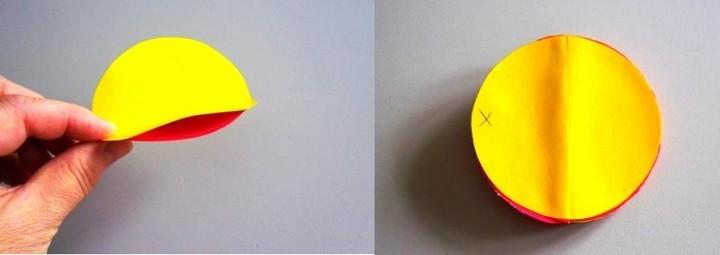 Как сделать шар из цветной бумаги 5