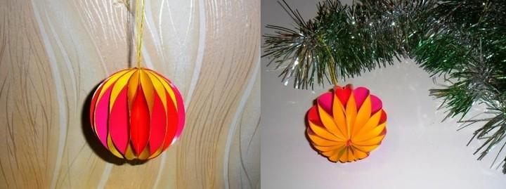 Как сделать шар из цветной бумаги 6