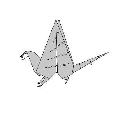 как сложить из бумаги дракона15
