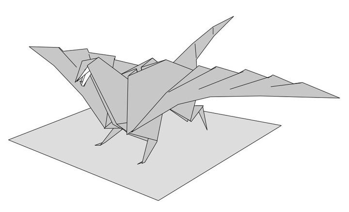 как сложить из бумаги дракона16
