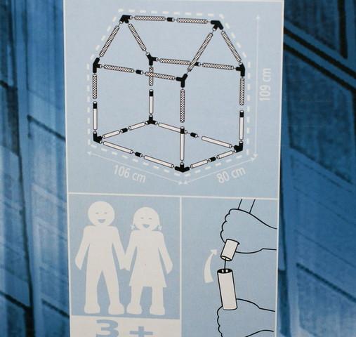 как собирается каркасная игровая палатка для детей
