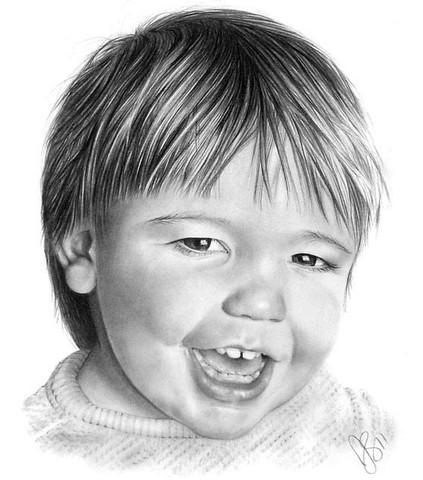 рисуем ребенка карандашом в анфас_6