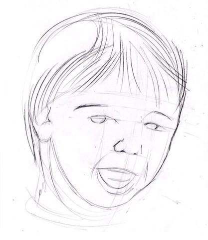 рисуем ребенка карандашом в анфас_3