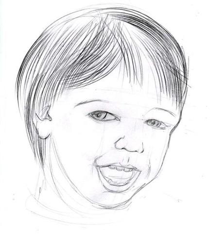 рисуем ребенка карандашом в анфас_4