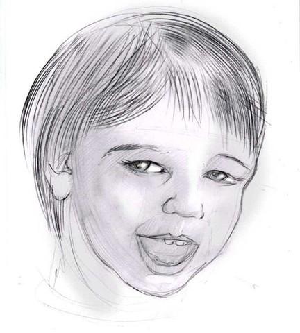 рисуем ребенка карандашом в анфас_5