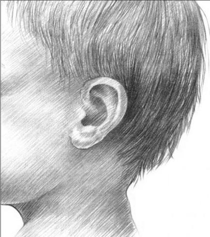 рисуем ребенка карандашом в профиль_11