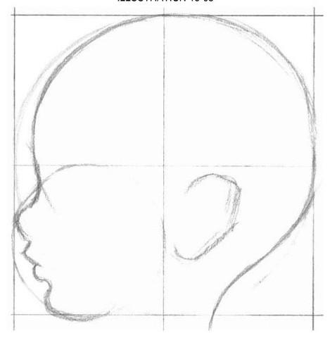 рисуем ребенка карандашом в профиль_3