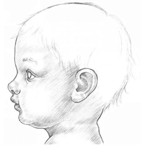 рисуем ребенка карандашом в профиль_6