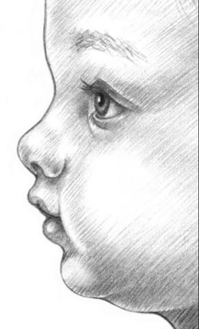 рисуем ребенка карандашом в профиль_7