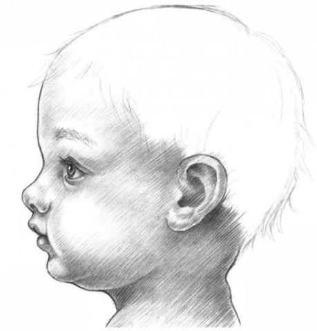 рисуем ребенка карандашом в профиль_8