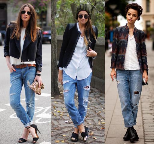 с чем носить рваные джинсы