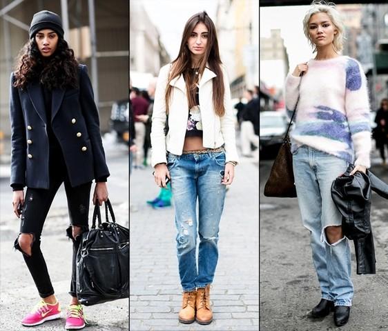 с чем носить рваные джинсы_