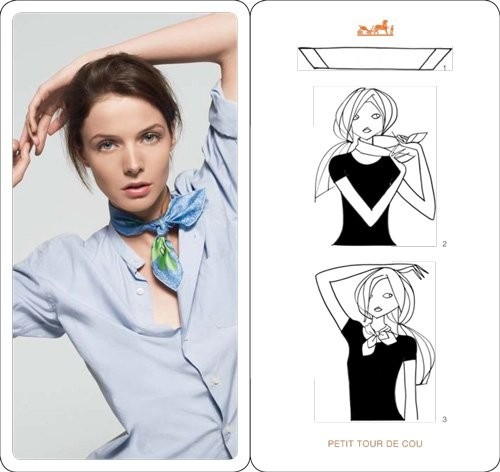 Как завязать на шее платок или шарф? Фото и видео-инструкции
