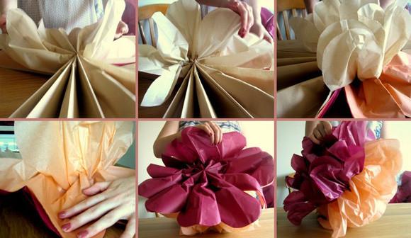 Как сделать шар из гофрированной бумаги 8