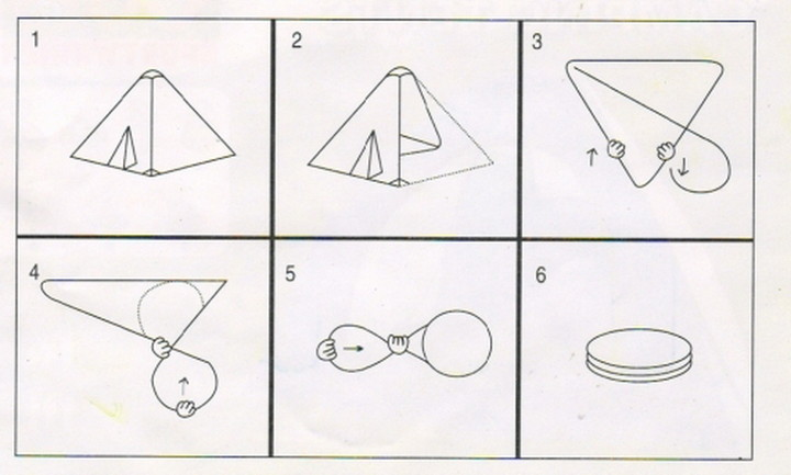 Как сложить треугольную игровую палатку