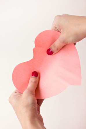 растягиваем листья в форме сердца