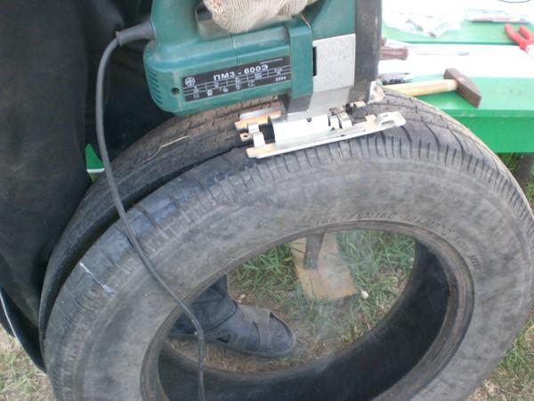 как сделать из колеса лебедя пошаговая инструкция - фото 3