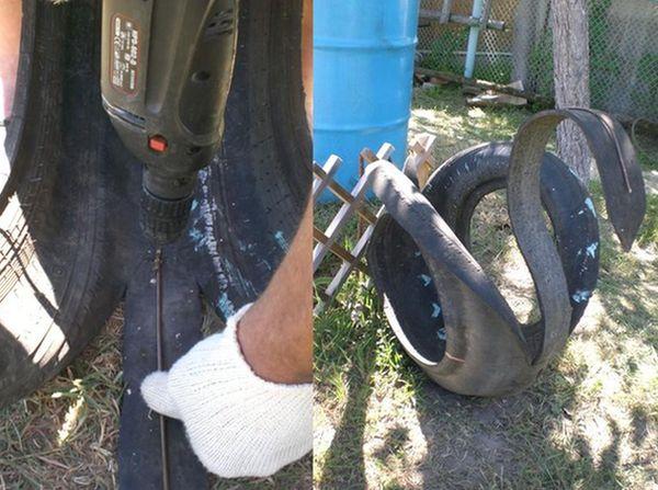 как сделать из колеса лебедя пошаговая инструкция - фото 10
