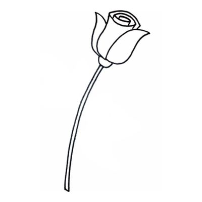 поэтапно рисовать цветок