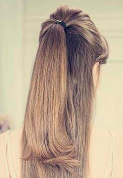 собираем волосы для прически