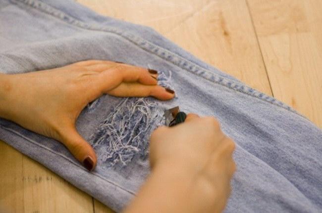 прорези на джинсах
