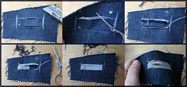 сделать дырки на джинсах в домашних условиях