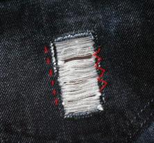 сделать джинсы с дырками