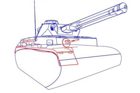 Как нарисовать танк тигр 2