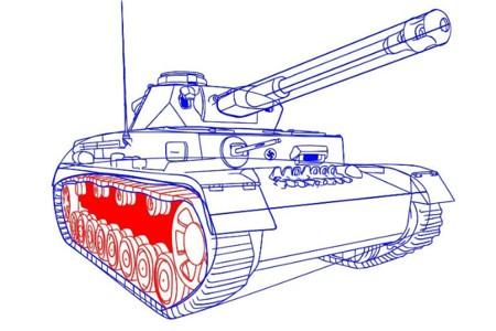 Как нарисовать танк Тигр 3