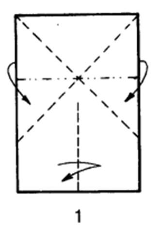 Как сделать бомбовоз из бумаги - шаг 1