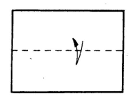 Как сделать остроносый истребитель из бумаги - шаг 1