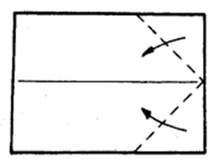 Как сделать остроносый истребитель из бумаги - шаг 2
