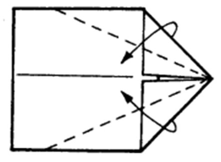 Как сделать остроносый истребитель из бумаги - шаг 3