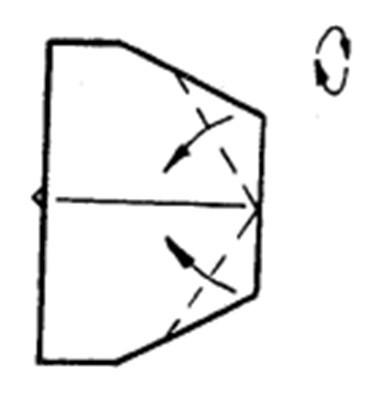 Как сделать остроносый истребитель из бумаги - шаг 5