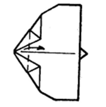 Как сделать остроносый истребитель из бумаги - шаг 6