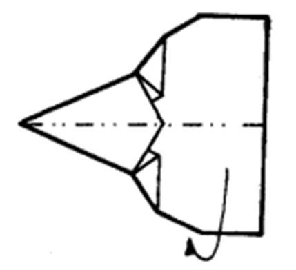 Как сделать остроносый истребитель из бумаги - шаг 7