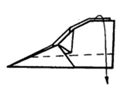 Как сделать остроносый истребитель из бумаги - шаг 8