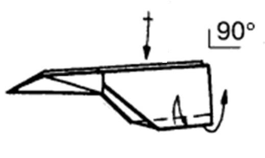 Как сделать остроносый истребитель из бумаги - шаг 9